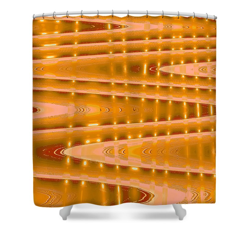 Moveonart! Digital Gallery Shower Curtain featuring the digital art Moveonart Abstract Waves And Light Three by Jacob Kanduch