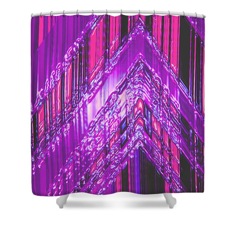 Moveonart! Digital Gallery Shower Curtain featuring the digital art Moveonart Amplify Your Creativity One by Jacob Kanduch