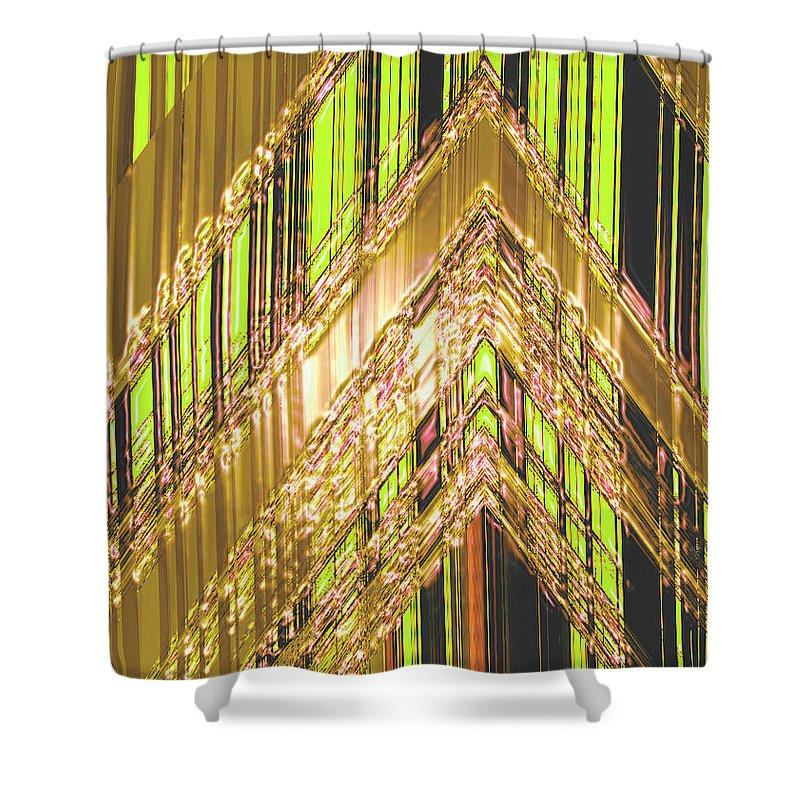 Moveonart! Digital Gallery Shower Curtain featuring the digital art Moveonart Amplify Your Creativity Three by Jacob Kanduch