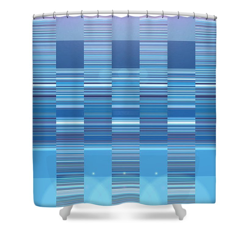 Moveonart! Digital Gallery Shower Curtain featuring the digital art Moveonart Aqua Program Four by Jacob Kanduch