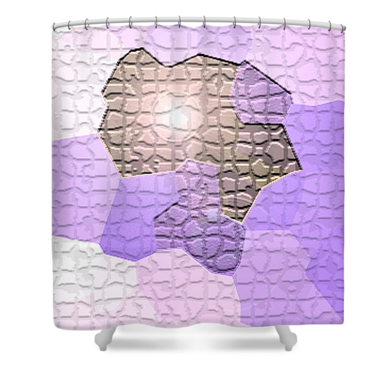 Moveonart! Digital Gallery Shower Curtain featuring the digital art Moveonart Behind The Scenes by Jacob Kanduch