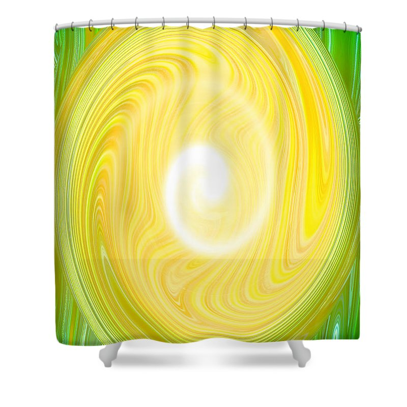 Moveonart! Global Gathering. San Francisco / New York Shower Curtain featuring the digital art Moveonart Bright Newness 1 by Jacob Kanduch