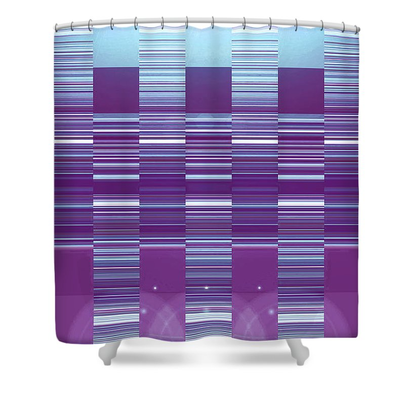 Moveonart! Digital Gallery Shower Curtain featuring the digital art Moveonart Color Duo Program Three by Jacob Kanduch