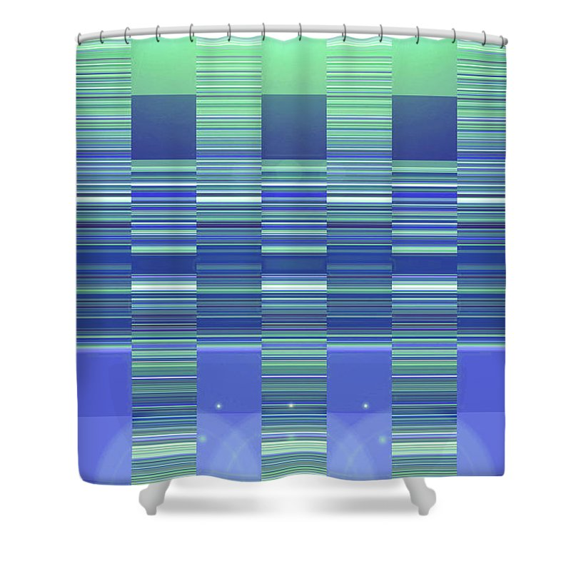 Moveonart! Digital Gallery Shower Curtain featuring the digital art Moveonart Color Duo Program Two by Jacob Kanduch