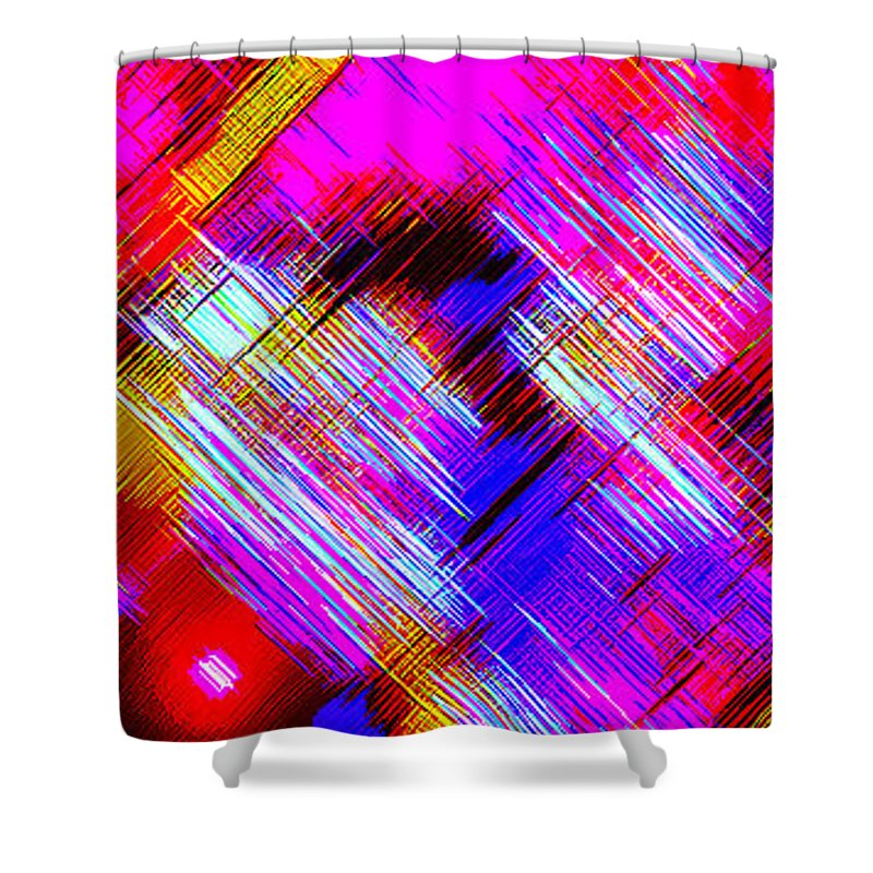 Moveonart! Digital Gallery Shower Curtain featuring the digital art Moveonart Colorful Fast Paced Evening by Jacob Kanduch
