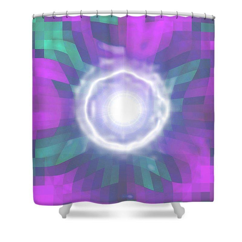Moveonart! Digital Gallery Shower Curtain featuring the digital art Moveonart Creative Mind Blessing by Jacob Kanduch