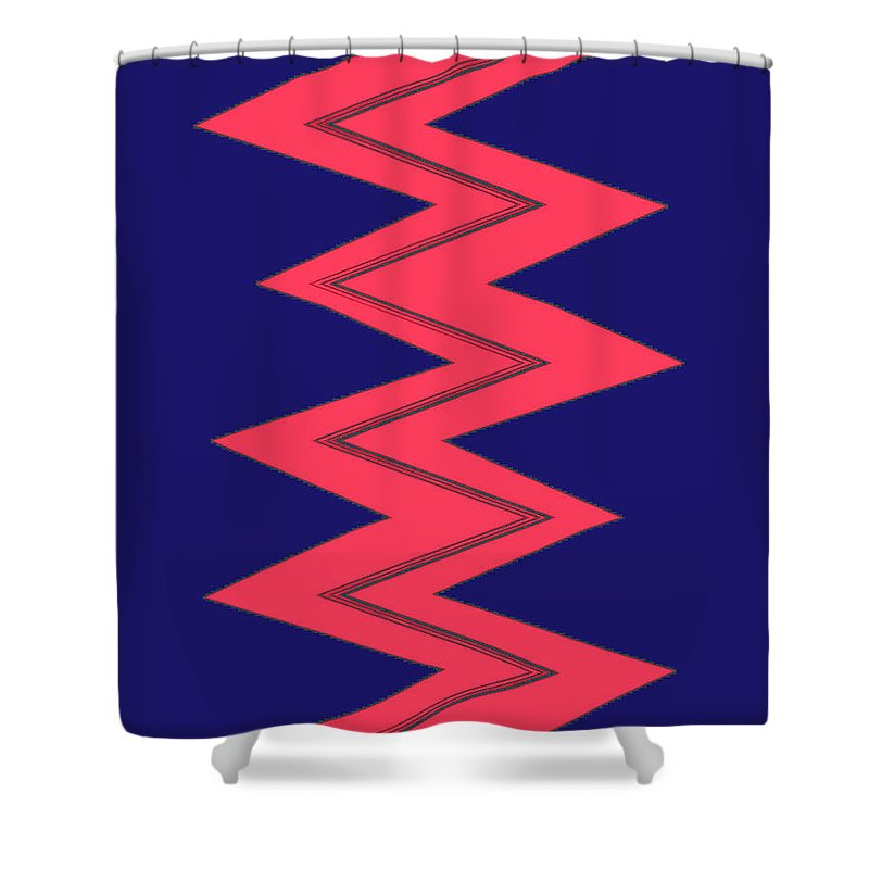 Moveonart! Global Gathering. -- Jacob Kane -- Omnetra Shower Curtain featuring the digital art Moveonart Electricred by Jacob Kanduch
