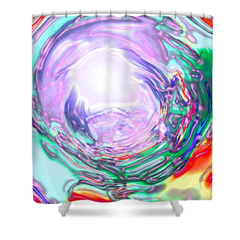 Moveonart! Digital Gallery Shower Curtain featuring the digital art Moveonart Finding True Purpose by Jacob Kanduch
