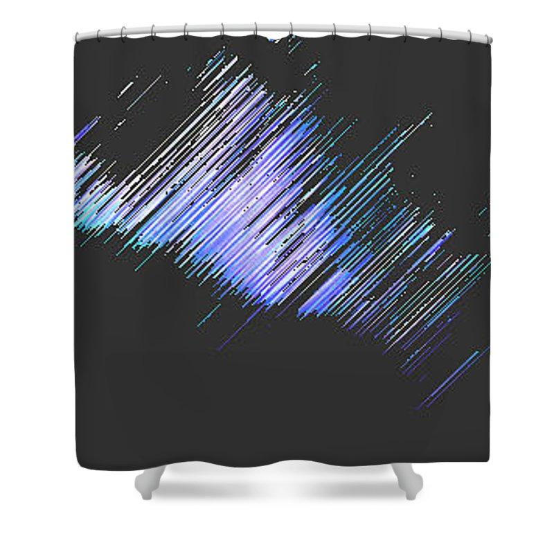 Moveonart! Digital Gallery Shower Curtain featuring the digital art Moveonart Follow Your Dreams Tonite by Jacob Kanduch