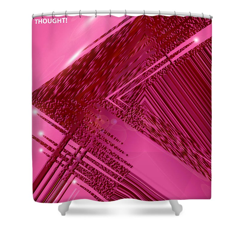 Moveonart! Digital Gallery Shower Curtain featuring the digital art Moveonart Freedom Of Thought One by Jacob Kanduch