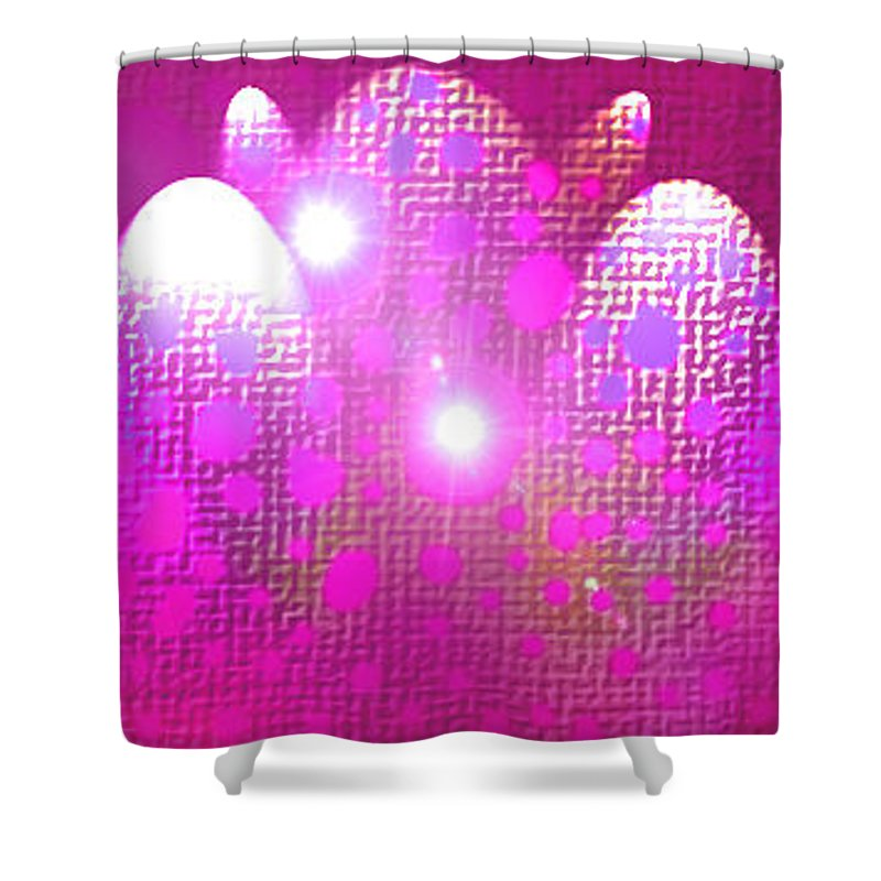 Moveonart! Digital Gallery Shower Curtain featuring the digital art Moveonart Get Ready Now by Jacob Kanduch