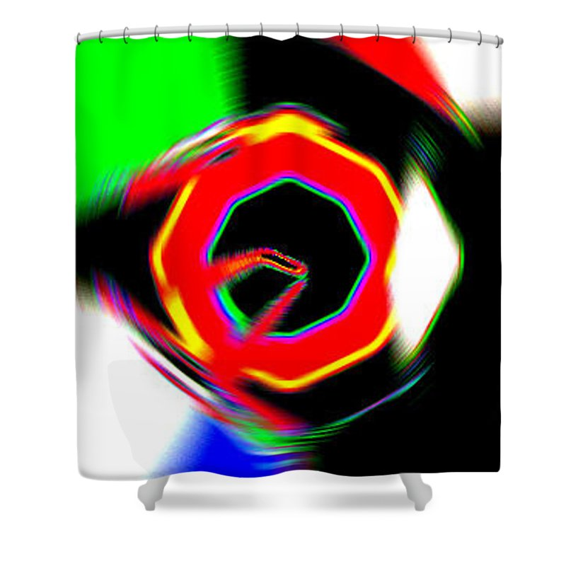 Moveonart! Digital Gallery Shower Curtain featuring the digital art Moveonart Getting In Touch by Jacob Kanduch