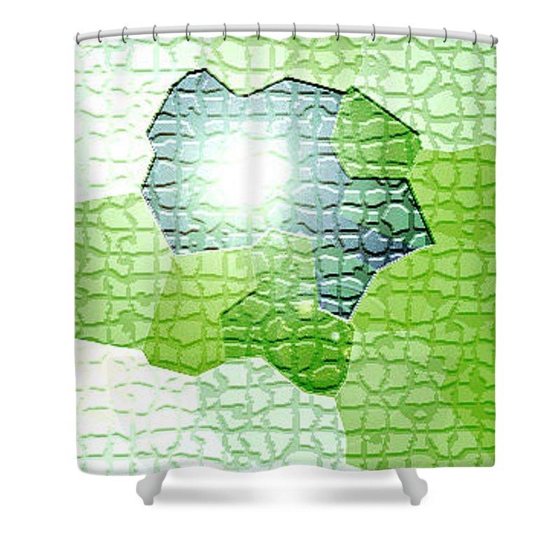 Moveonart! Digital Gallery Shower Curtain featuring the digital art Moveonart Going Green Is Good by Jacob Kanduch