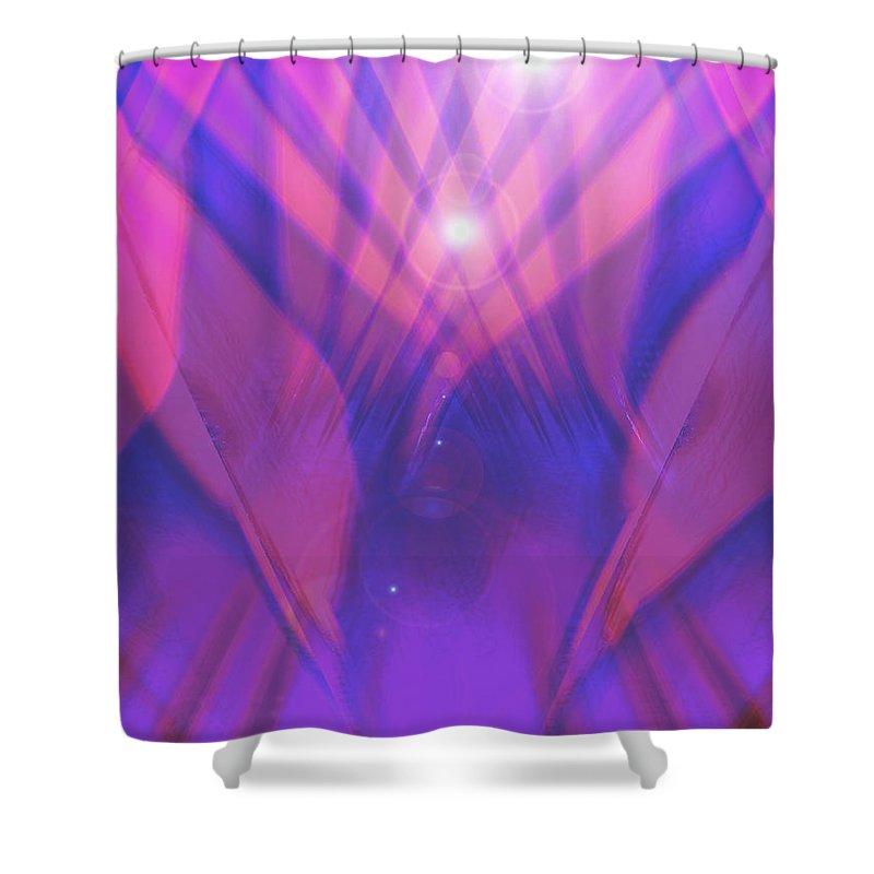 Moveonart! Digital Gallery Shower Curtain featuring the digital art Moveonart I Surrender One by Jacob Kanduch