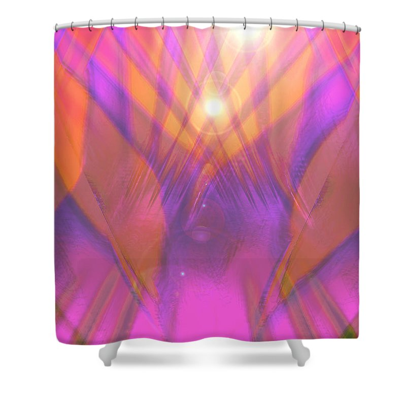 Moveonart! Digital Gallery Shower Curtain featuring the digital art Moveonart I Surrender Two by Jacob Kanduch