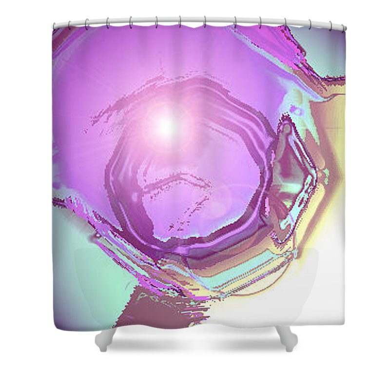 Moveonart! Digital Gallery Shower Curtain featuring the digital art Moveonart Inspiration Intuition Intellect. by Jacob Kanduch