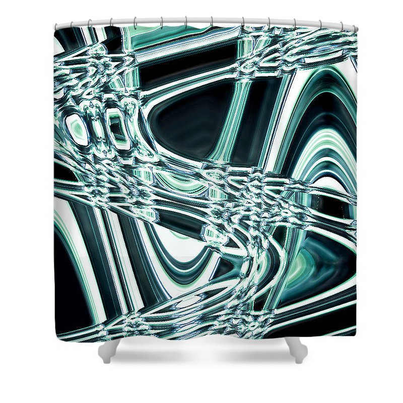 Moveonart! Digital Gallery Shower Curtain featuring the digital art Moveonart Intentionally Abstract Movement by Jacob Kanduch