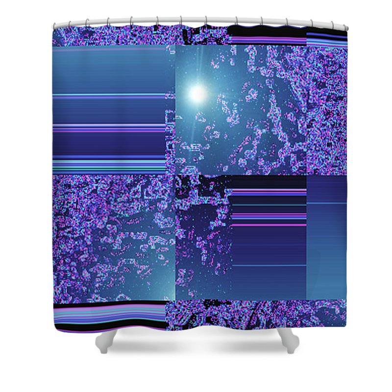 Moveonart! Digital Gallery Shower Curtain featuring the digital art Moveonart Inter Dimensional Shift One by Jacob Kanduch