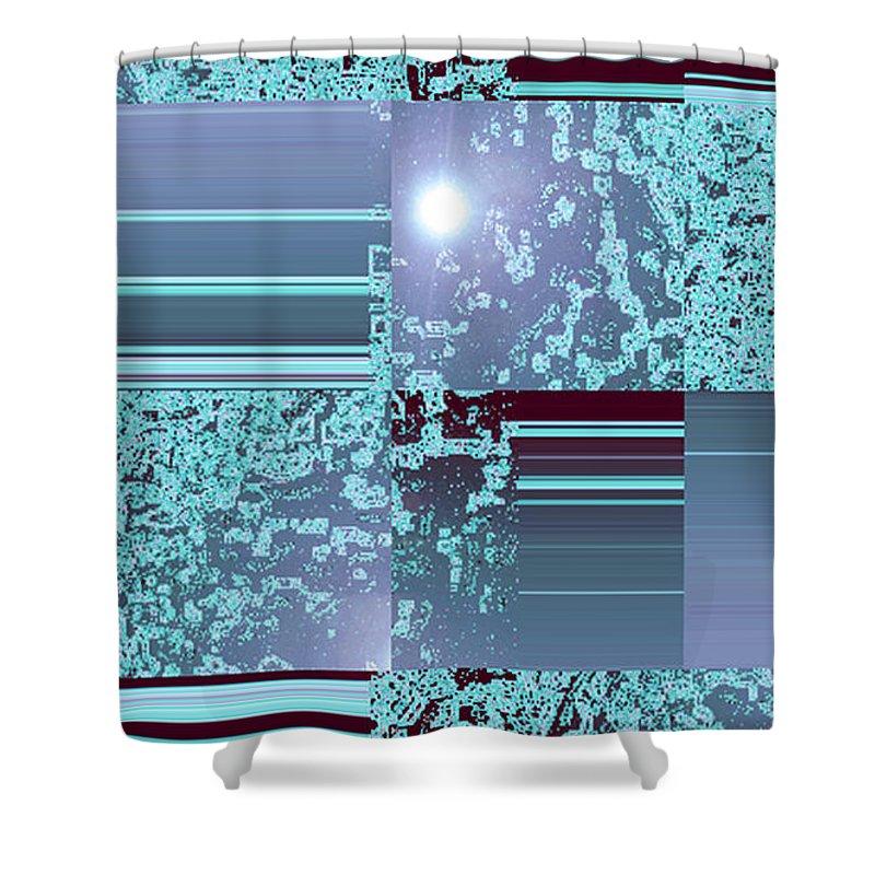 Moveonart! Digital Gallery Shower Curtain featuring the digital art Moveonart Inter Dimensional Shift Three by Jacob Kanduch