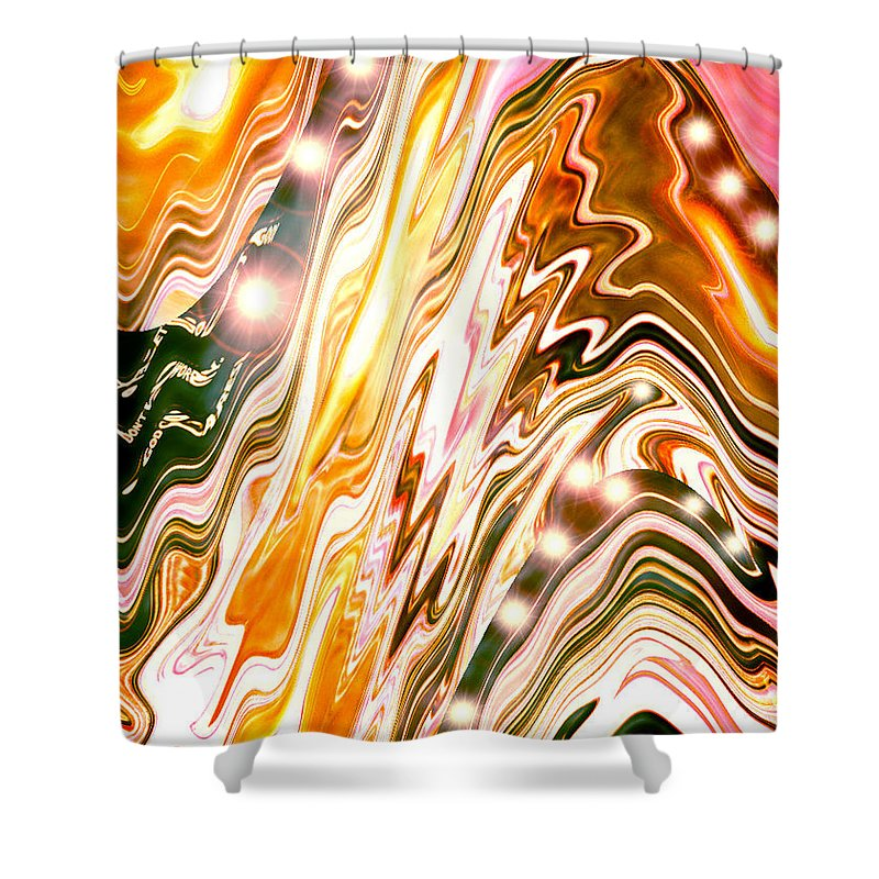 Moveonart! Digital Gallery Shower Curtain featuring the digital art Moveonart Letting Go Three by Jacob Kanduch