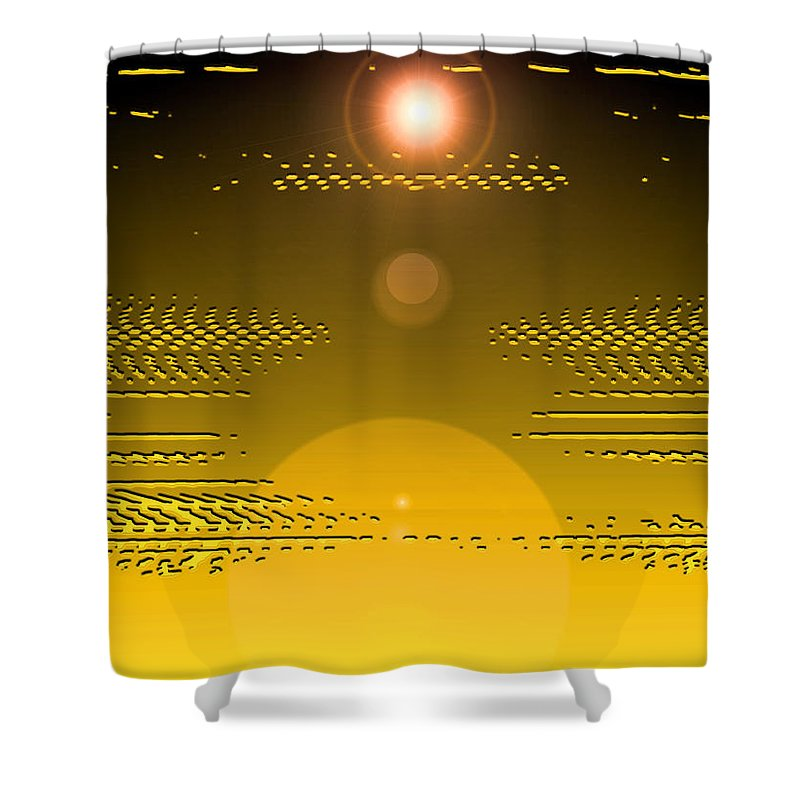 Moveonart! Digital Gallery Shower Curtain featuring the digital art Moveonart Light Rise In The Darkness by Jacob Kanduch