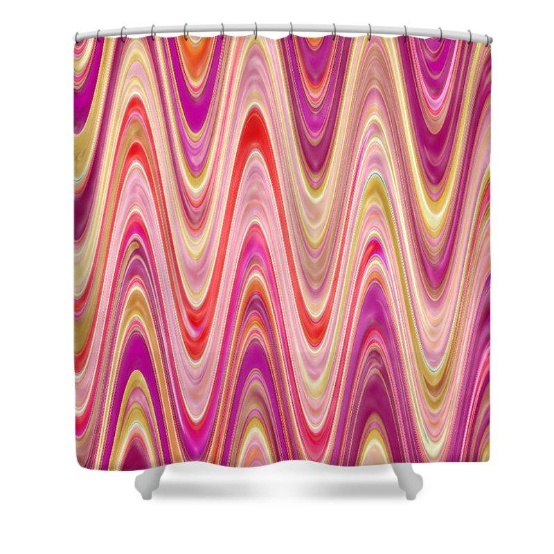 Moveonart! Digital Gallery Shower Curtain featuring the digital art Moveonart Lively Waves Of Joy by Jacob Kanduch