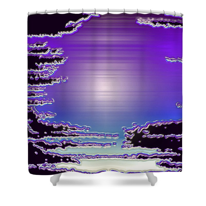 Moveonart! Digital Gallery Shower Curtain featuring the digital art Moveonart Mood 11 by Jacob Kanduch
