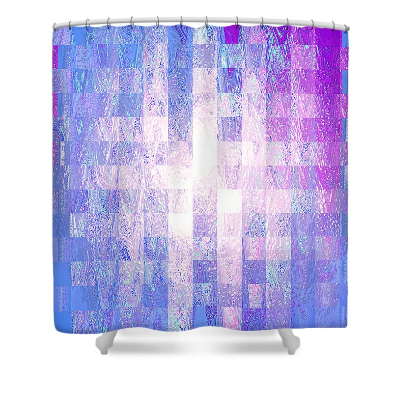 Moveonart Digital Gallery Lower Nob Hill San Francisco California Jacob Kanduch Shower Curtain featuring the digital art Moveonart Mood Therapy 2 by Jacob Kanduch