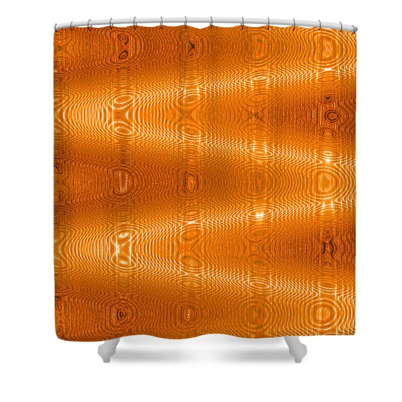Moveonart! New York / San Francisco / Oklahoma / Portland / Missoula Jacob Kanduch Shower Curtain featuring the digital art Moveonart Movement In Orange by Jacob Kanduch