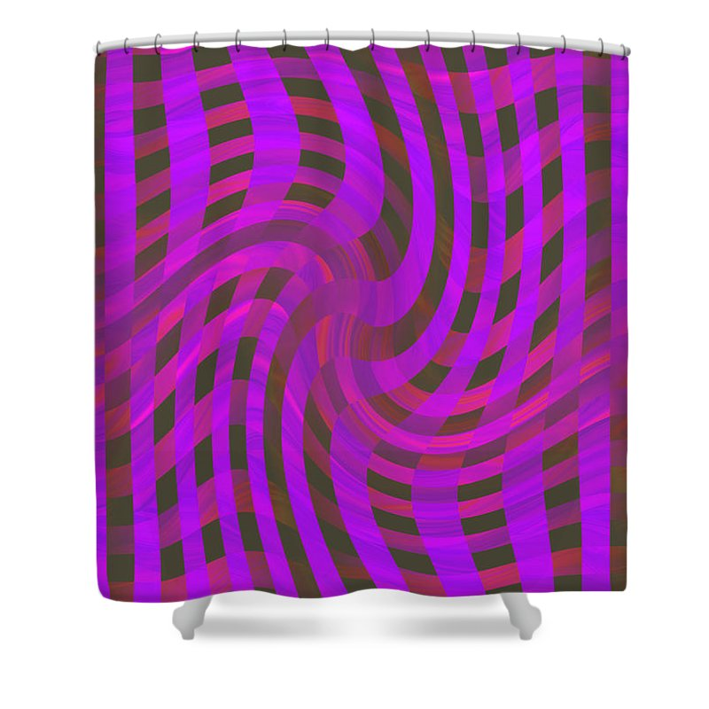 Moveonart! Global Gathering. -- Digital Abstract Art By Jacob Kane -- Omnetra Shower Curtain featuring the digital art Moveonart Newwavezone by Jacob Kanduch