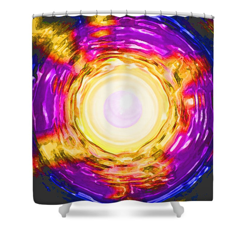 Moveonart! Digital Gallery Shower Curtain featuring the digital art Moveonart Onward Passion by Jacob Kanduch