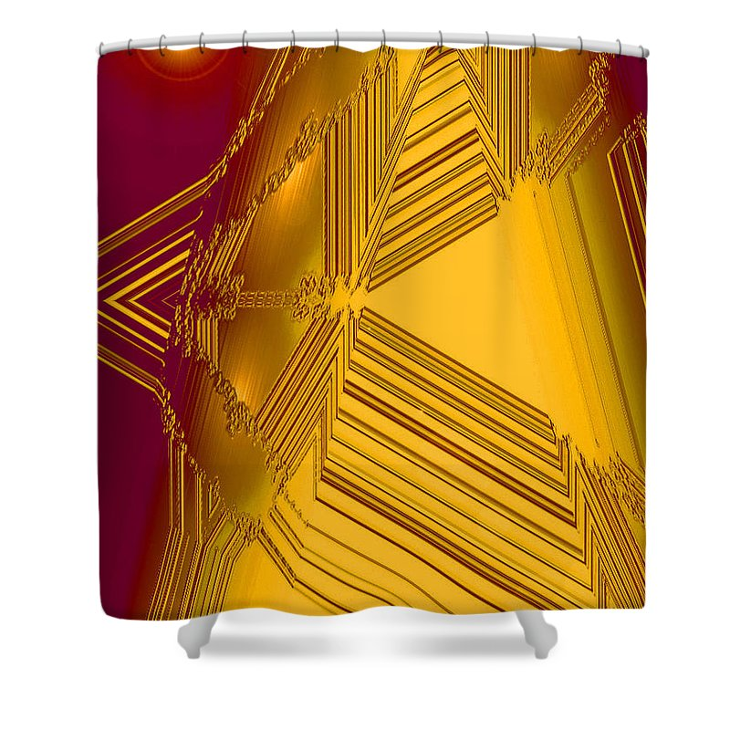 Moveonart! Digital Gallery Shower Curtain featuring the digital art Moveonart Other Worlds Four by Jacob Kanduch