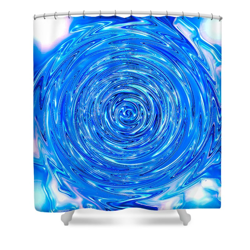 Moveonart! Digital Gallery Shower Curtain featuring the digital art Moveonart Peace Renewal Planet Earth by Jacob Kanduch