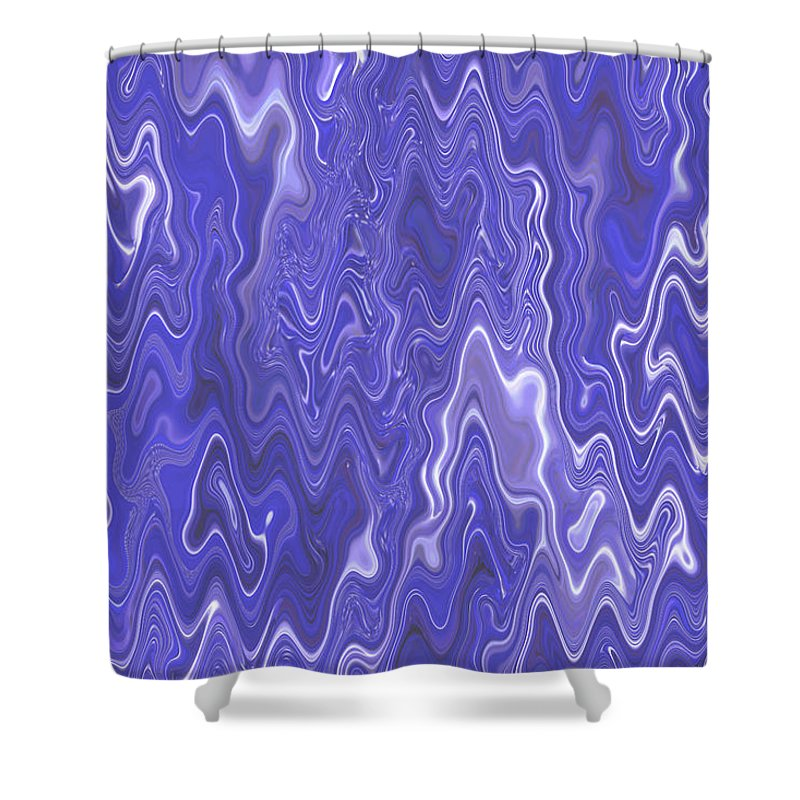 Moveonart! Digital Gallery Shower Curtain featuring the digital art MoveOnArt Peaceful Interactive Visual Therapy 2 by Jacob Kanduch