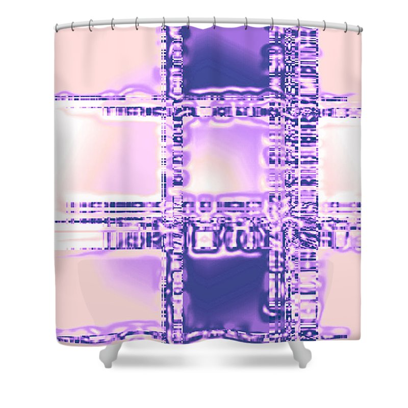 Moveonart! Digital Gallery Shower Curtain featuring the digital art Moveonart Plan To Be A City Man by Jacob Kanduch