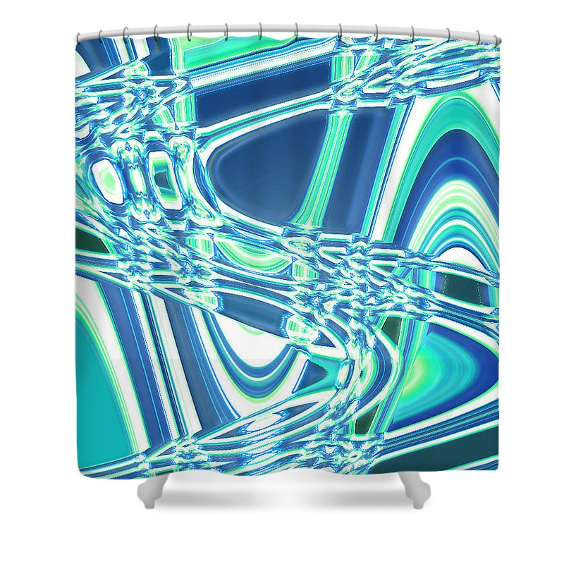 Moveonart! Digital Gallery Shower Curtain featuring the digital art Moveonart Sharing Our Strength by Jacob Kanduch