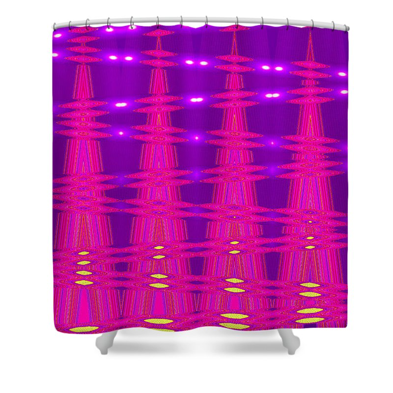 Moveonart Digital Gallery San Francisco California Lower Nob Hill Jacob Kane Kanduch Shower Curtain featuring the digital art Moveonart Spontaneous Abstract 5 by Jacob Kanduch