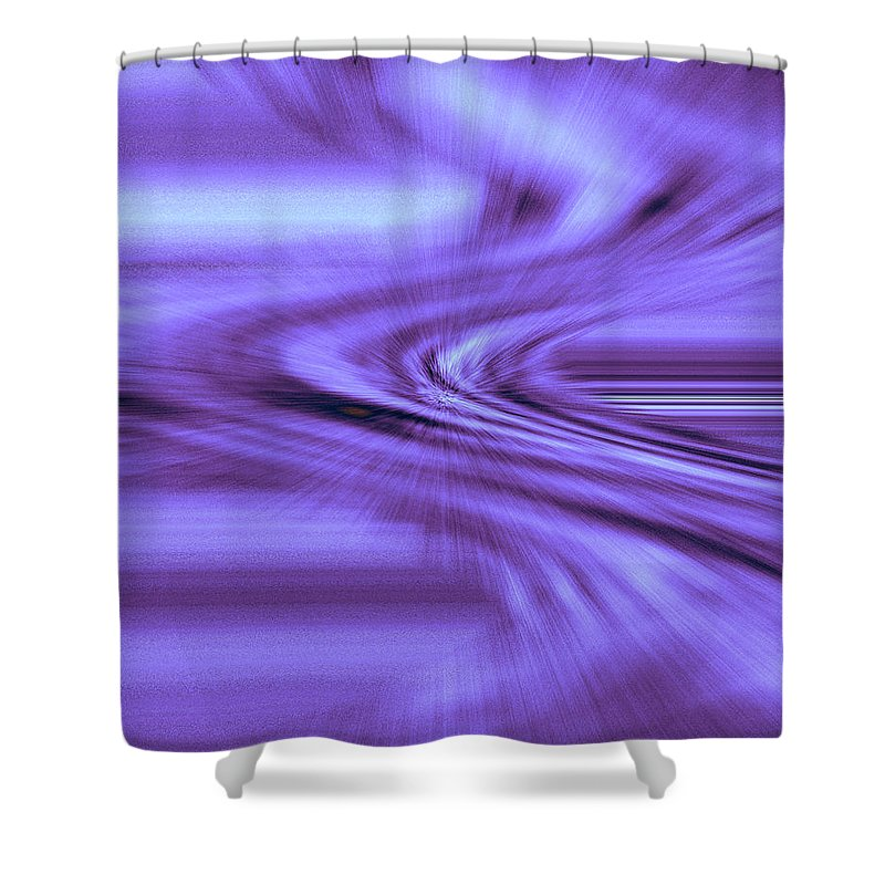 Moveonart! Digital Gallery Shower Curtain featuring the digital art Moveonart Steadfast In Spontaneous Storms by Jacob Kanduch