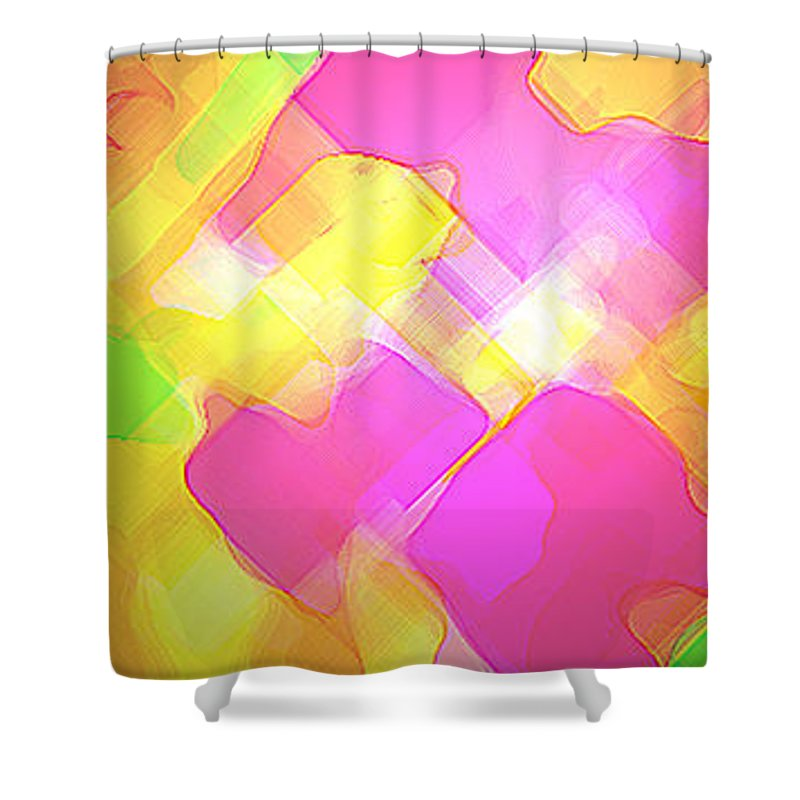Moveonart! Digital Gallery Shower Curtain featuring the digital art Moveonart Try Not Being Shy by Jacob Kanduch