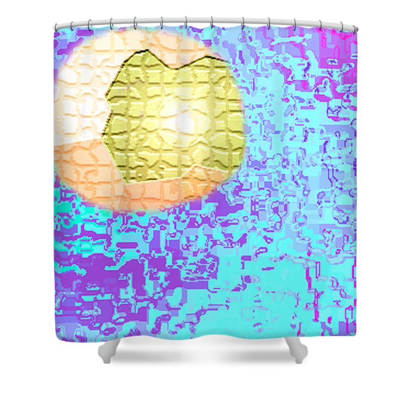 Moveonart! Digital Gallery Shower Curtain featuring the digital art Moveonart Urban Light Worker by Jacob Kanduch