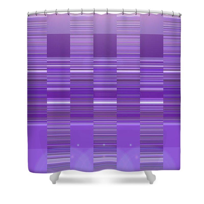 Moveonart! Digital Gallery Shower Curtain featuring the digital art Moveonart Violet Program Two by Jacob Kanduch