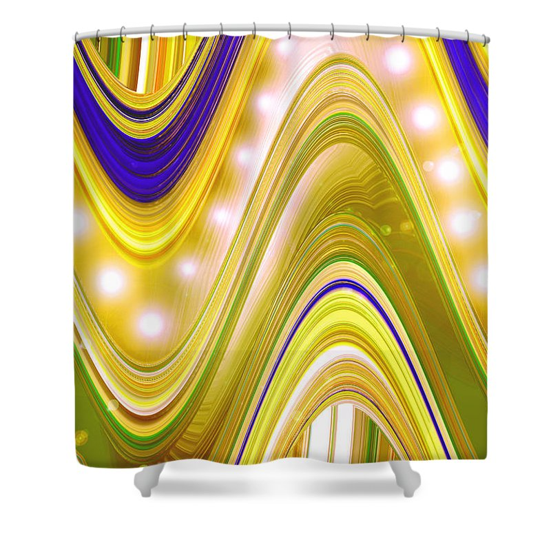 Moveonart! Digital Gallery Shower Curtain featuring the digital art Moveonart Wave Of Enlightenment Four by Jacob Kanduch