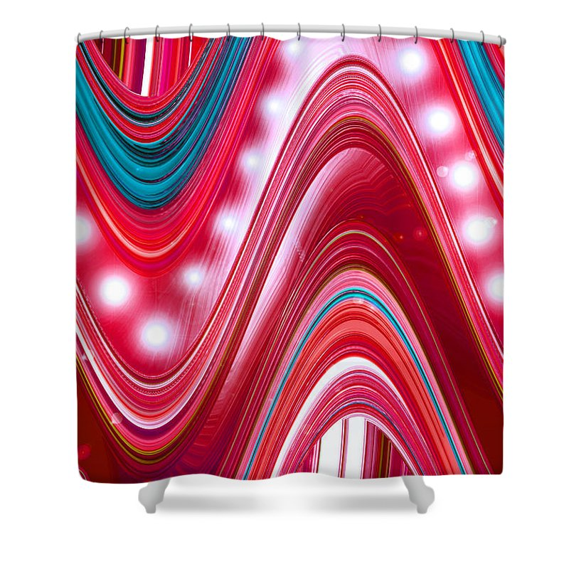 Moveonart! Digital Gallery Shower Curtain featuring the digital art Moveonart Wave Of Enlightenment Three by Jacob Kanduch