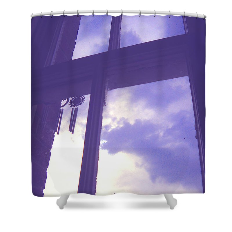 Moveonart Digital Gallery San Francisco California Lower Nob Hill Jacob Kane Kanduch Shower Curtain featuring the photograph Moveonart Window Watching Series 6 by Jacob Kanduch