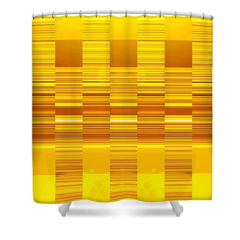 Moveonart! Digital Gallery Shower Curtain featuring the digital art Moveonart Yellow Program Six by Jacob Kanduch