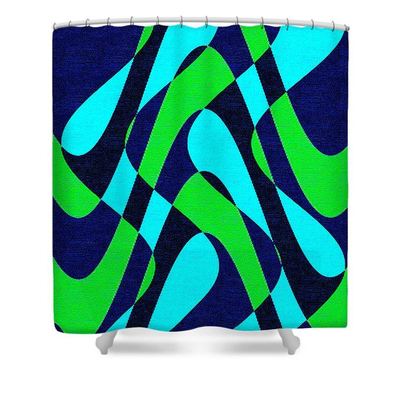 Moveonart Digital Gallery San Francisco California Lower Nob Hill Jacob Kane Kanduch Shower Curtain featuring the digital art Moveonart Zen Waves Series 2 by Jacob Kanduch
