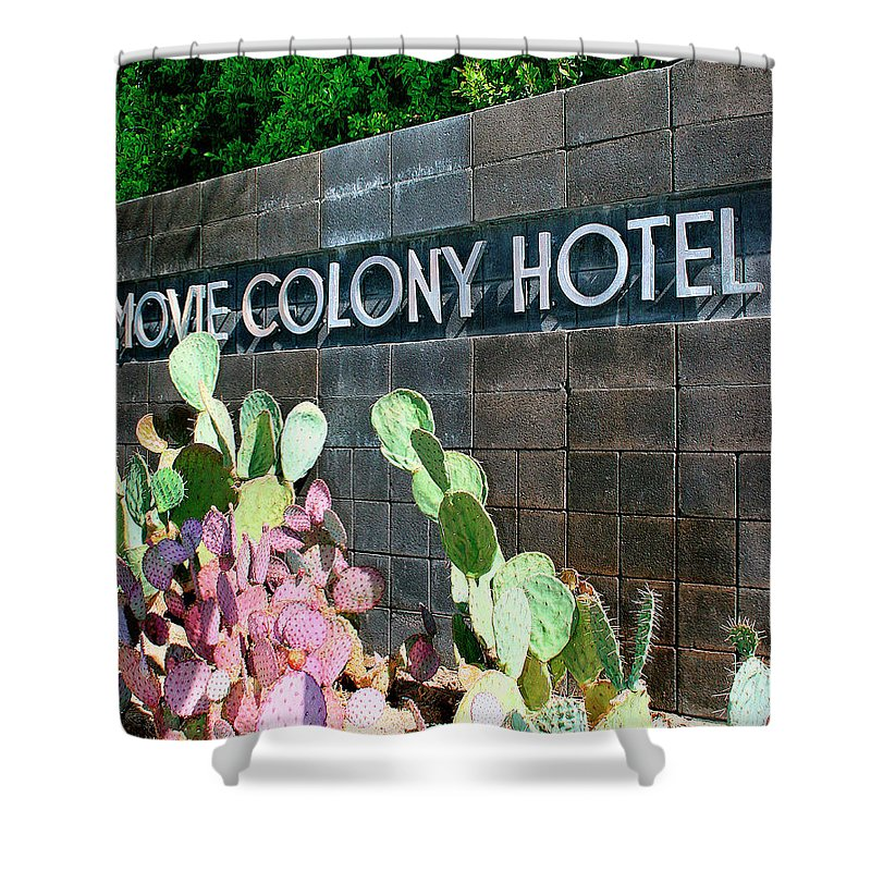 Movie Colony Homes. Movie Colony Shower Curtain featuring the photograph Movie Colony Hotel Palm Springs by William Dey