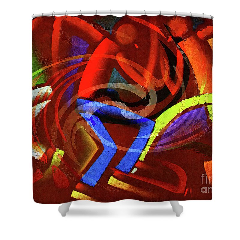 Move Shower Curtain featuring the painting Movin by Neil Finnemore
