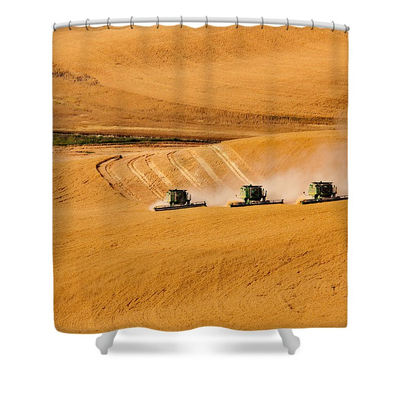 Harvest Shower Curtain featuring the photograph Moving Forward by Mary Jo Allen