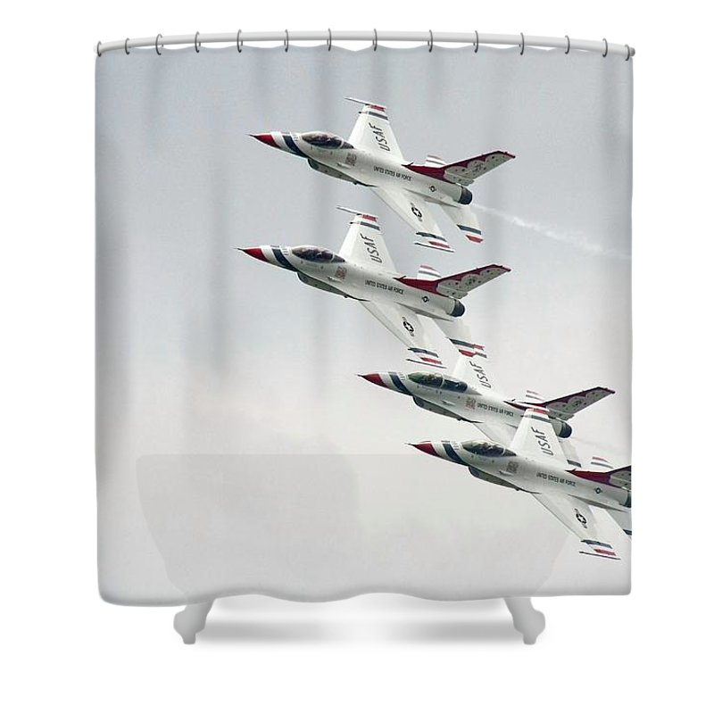 Usaf Shower Curtain featuring the photograph Moving Forward by Mitch Cat